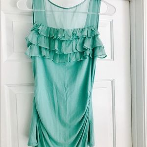 Arden B- Teal Dressy Tank Top